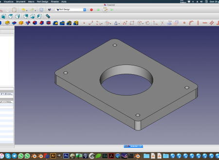 Tutorial Freecad Piastra forata